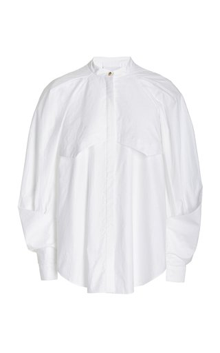 Harman Puff-Sleeve Cotton Shirt