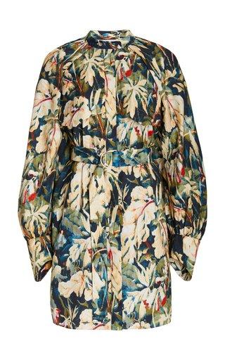 Sumner Puff-Sleeve Printed Woven Mini Dress