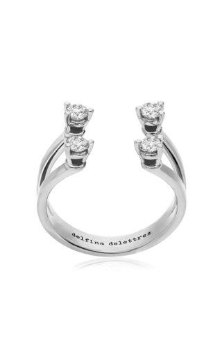 Dots 18K White Gold Diamond Ring