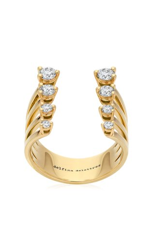 Dots 18K Yellow Gold Diamond Ring