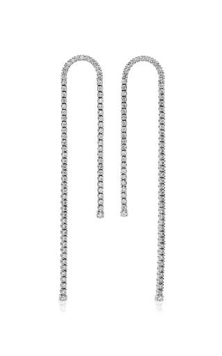 Unchain My Art 18K White Gold Diamond Earrings