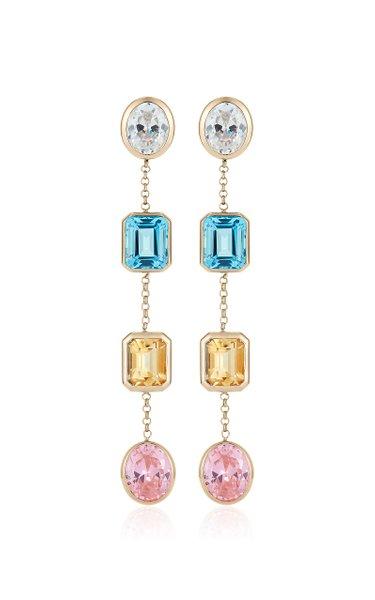 The Bassey 18K Yellow Gold Multi-Stone Earrings