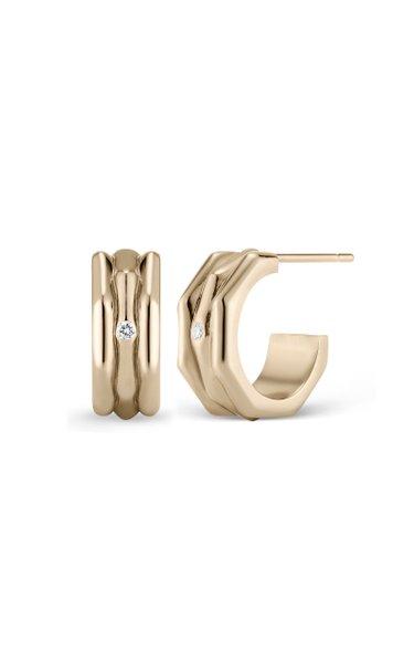 The Smith 18K Yellow Gold Diamond Earrings