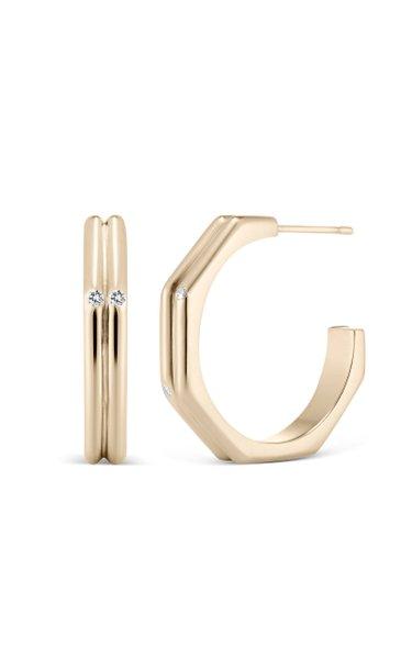 The Patterson 18K Yellow Gold Diamond Earrings