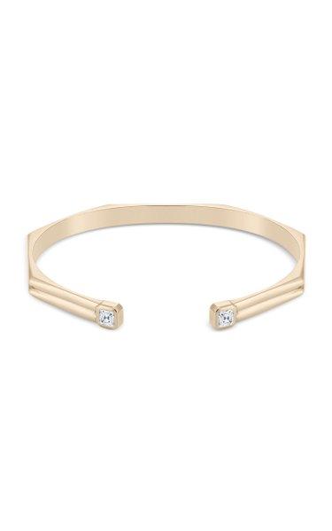 The Hannah 18K Yellow Gold Diamond Cuff