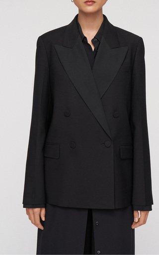 Jaden Double-Breasted Wool-Blend Blazer