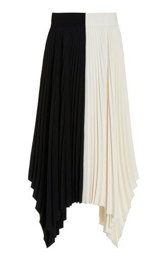 Ade Two-Tone Plisse Handkerchief Skirt