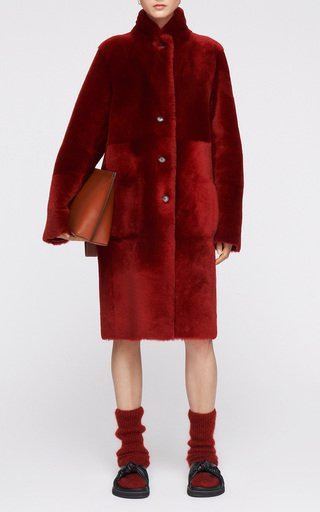 Britanny Reversible Shearling & Leather Coat