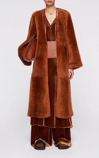 Caelan Shearling Long Coat