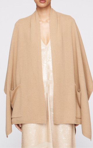 Belted Wool-Cashmere Poncho