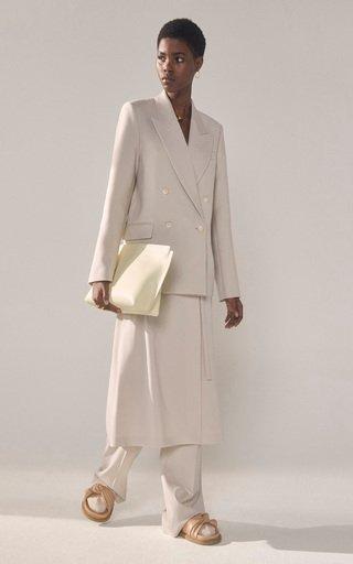 Jaden Peaked Wool-Blend Blazer