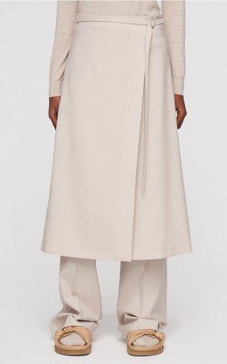 Safra Wool-Blend Wrap Skirt