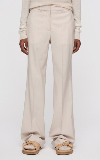 Morissey Wool-Blend Straight-Leg Pants