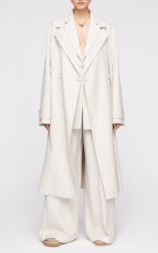Charah Double-Breasted Woven Coat