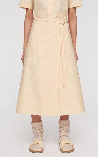 Safra Cotton-Blend Wrap Skirt
