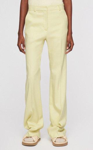 Tafira Crepe Straight-Leg Pants