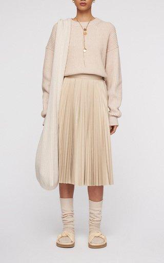 Seija Pleated Silk Skirt