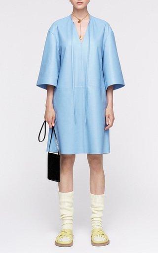 Delphine Leather Mini Dress