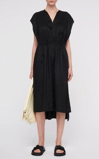 Delcie Gathered Woven Dress
