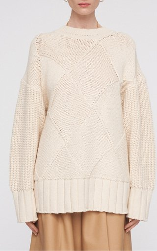 Oversized Cotton-Knit Sweater