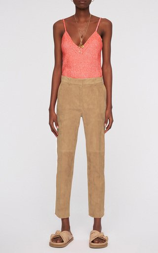 Coleman Suede Cropped Trousers