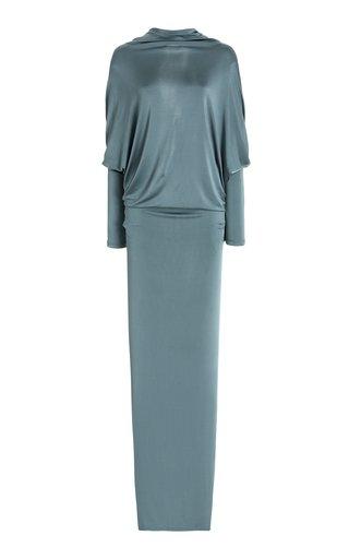 Draped Jersey Maxi Dress