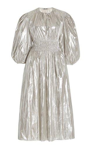 Georgina Foiled Satin Midi Dress