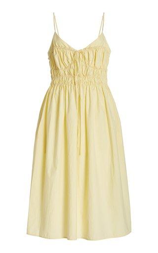 Contessa Smocked Cotton Midi Dress