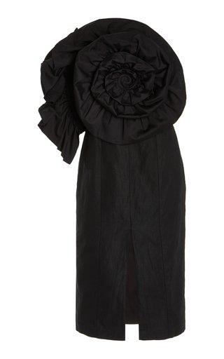 Valeria Cotton-Linen Midi Dress