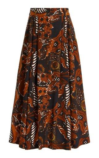 Tulay Printed Crepe Maxi Skirt