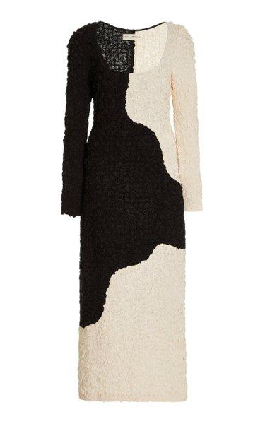 Amy Two-Tone Knit Midi Dress