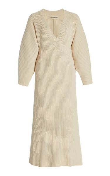 Samira Ribbed Cotton-Knit Midi Dress