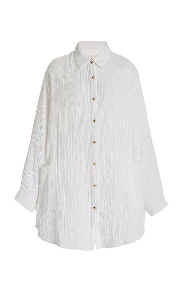 Alisan Oversized Organic Cotton-Gauze Shirt