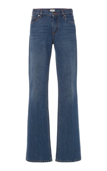 Rigid Low-Rise Bootcut Jeans