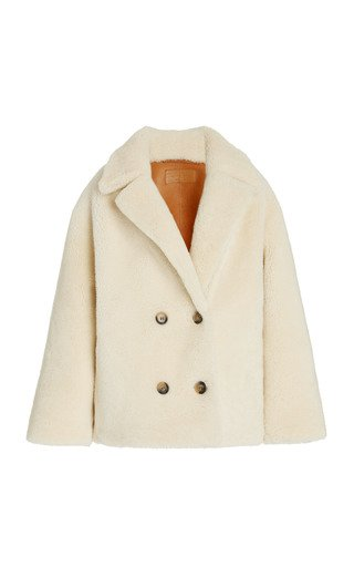 Addie Double-Breasted Shearling Coat