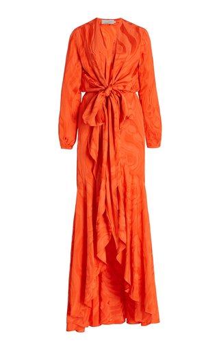 Albarella Jacquard Maxi Wrap Dress