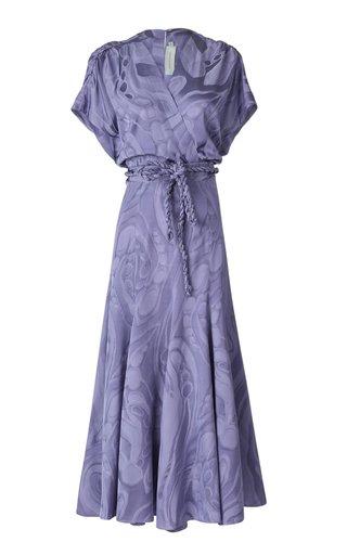 Sottomarina Jacquard Midi Wrap Dress