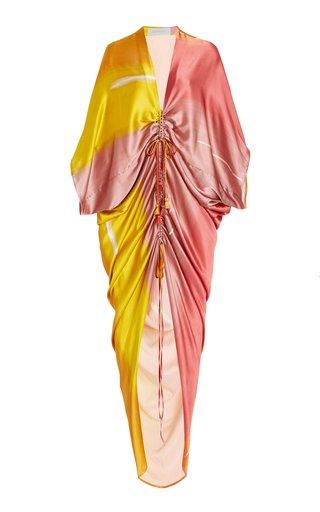 Cloister Gathered Silk Maxi Dress