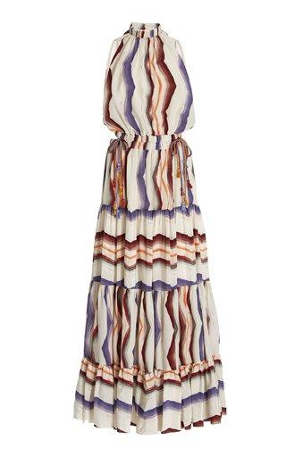 Nocera Cutout Printed Crepe Maxi Dress