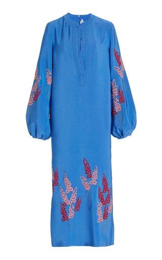 Sabionetta Embroidered Crepe Tunic Dress