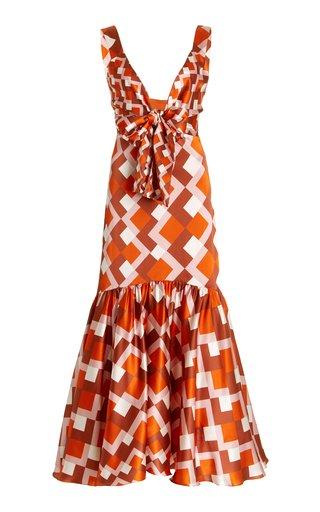 Spello Printed Silk Maxi Dress