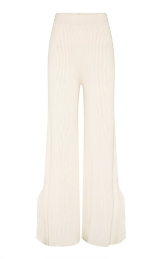Jordan Ribbed Cotton Wide-Leg Pants