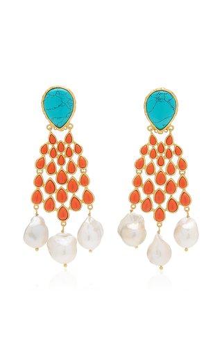 Euphoria 24K Gold-Plated Multi-Stone Earrings