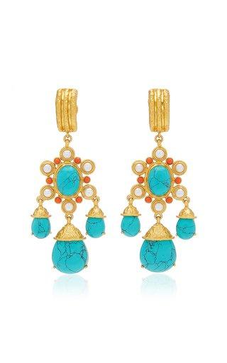 Gypsy 24K Gold-Plated Multi-Stone Earrings