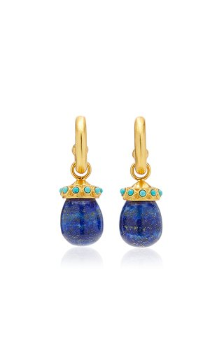Joy 24K Gold-Plated Lapis, Turquoise Earrings