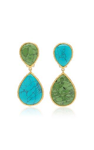 Malibu 14K Gold-Plated Turquoise Earrings