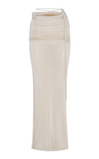 Verona Ruched Maxi Skirt