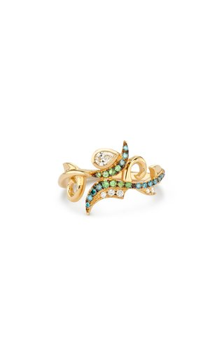 18K Yellow Gold Dragon Spines Ring