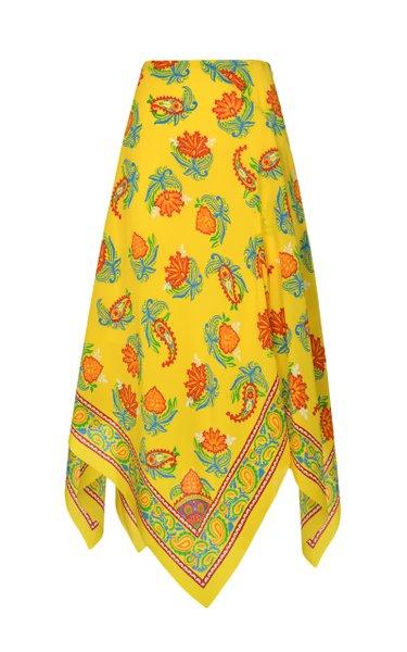 Cassie Silk Mulberry Skirt