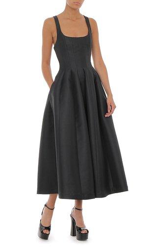 Sleeveless Cady Midi Dress
